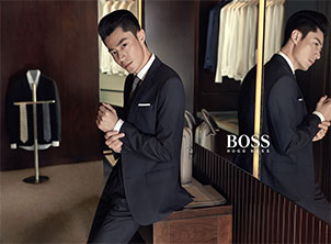 "霍建华牵手HUGO BOSS 出任BOSS""Man of Today""中国区代言人"
